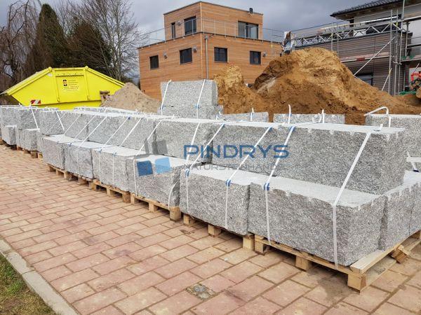 Granit Mauersteine, Granitsteine, Gartensteine 40x40x60 cm Lagerfugen gesägt, Trockenmauer
