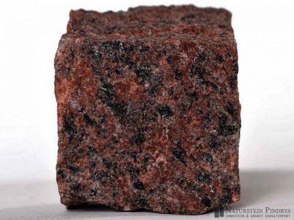 Granitpflastersteine rot Mittelkorn