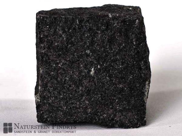 Granitpflastersteine schwarz Feinkorn